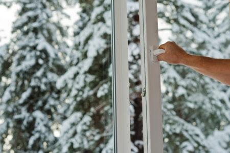 Fenêtre PVC en hiver